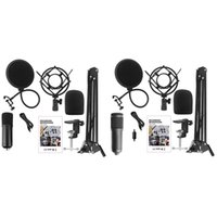 Mikrofonlar Mikrofon Kitleri Kondenser Bundle Standı Karaoke Mic Filtre Phantom 192KHz / 24bit