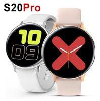 Telefon 1pcs için S20 Akıllı İzle Çember Tam Dokunmatik Ekran Mesajı hatırlatma Spor Tracker Nabız EKG IP68 su geçirmez Smartwatch