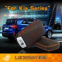 자동차 키 가방 2013년부터 2020년까지 자동차 기아 쏘렌토 K2 RIO K3 K5 SPORTAGE 쉘 KEY COVER 홀더 크래프트 첫 번째 레이어의 자동차 액세서리