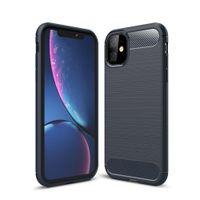 Karbon Fiber Durumda iPhone 11 Pro X XR XS Max 6 6 S 7 8 Artı 5 5 S SE 2020 Telefon Kapak Samsung S20 Ultra S10 S10E S9 Artı S8 Not 10 9 8