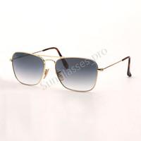 Moda Moda Gafas de sol Diseñador Brand Gafas de sol Doble Puente Hombre Mujer Gafas de sol Eyeware Marco Dorado Popular Des Lunettes De Soleil