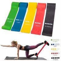 5pcs / Set Bandes de résistance de yoga élastiques Bandes d'exercice de boucle en caoutchouc Ensemble de fitness Force Force Formation Bands Gym Yoga Equipment