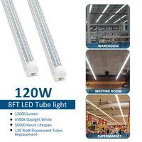 NUEVA Integrado vshap 2.4m 8 pies de 72W LED T8 tubo luces SMD2835 384 Leds LEDGlow luces frescas blanco cálido esmerilado de la cubierta transparente 85-265V