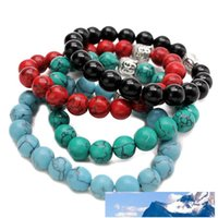 Fashion 10mm Tiger Eye Beads Buddha Men Bracelets Prayer Cha...