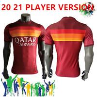 20 21 Rome النسخة اللاعب المنزلي لكرة القدم Totti Dzeko Zabiolo Jerseyaway Sports de Rossi Jersey 2020 2021 El Shaar Nainggolan قميص كرة القدم