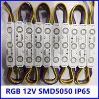 ZS Wtrysk z obiektywem RGB Moduł LED SMD 5050 do znaku List DC12V 0,75 W IP65 75mm * 15mm * 5mm
