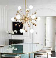 éclairage Postmodern lustre de pissenlit créatif lumières LED Nordic style industriel moderne simple penthouse villa éclairage de la pièce