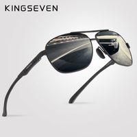 نظارات كينغفين الأزياء الاستقطاب الرجال الرجعية نمط نظارات الشمس ماركة مصمم عطلة
