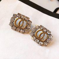 moda popular letra inicial brincos de argola pingente de colar de corrente para as mulheres senhora amantes de casamento festa de jóias presente com caixa