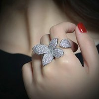 Vintage Flower Leaf ring Pave Setting Diamond Cz Sona Stone 925 Sterling silver Party wedding band rings for women Finger Jewelry