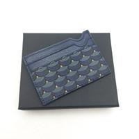 Männer Art und Weise Frauen-Qualitäts-Kreditkartenhalter Klassische Herren Mini-Geldkarte-Halter kleine Mappe Schlanke Echtledergeldbörsen Wtih Box