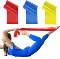 Wholsale Yoga Yoga Pilates Bands d'exercices 1500x150x0.35mm TPE TPE Rallye Tirez les bandes résistantes à la corde de corde élastique cueillies de manière aléatoire