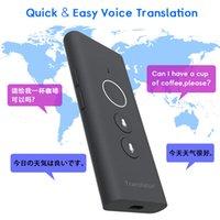Smart Translator 2021 Онлайн портативный портативный товарный подушкой 40 Языки голосовые путешествия Двухстороннее мгновенное точечное устройство
