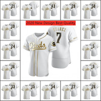 5 Johnny Bench Jersey 7 Eugenio Suarez maglie 27 Trevor Bauer Joey Votto Donne personalizzato Authentic oro Edition baseball Jersey