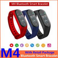 3 ألوان M4 الذكية فرقة سوار الرياضة في الهواء الطلق للياقة البدنية المقتفي ضغط الدم الأساور رصد معدل ضربات القلب M4 الذكية ساعة PK M4 برو A1
