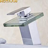 Free shipping Copper Chrome Waterfall Bathroom Faucet Bathro...