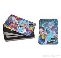 파이프 담배 만화 다채로운 최신 신용 카드 금속 담배 파이프 자기 아연 합금 건조 허브 - 83 * 50mm