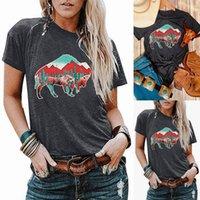 Femmes T-shirt Cactus motif imprimé col rond manches courtes T-shirt Graphic Tee Vêtements vintage esthétique Omighty en vrac
