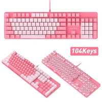 Tastiere Girls Girls Keyboard Takeboard Sets True Shaft Backlit Punk KeyCap con Axis Green Mechanical Wired USB 3200DPI MUTE