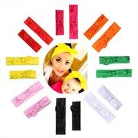 2Pcs Cute Mother Baby Hair Bands Lovely Butterfly Ribbon Ears Kids Elastic Hair Headwear Headband Bow Turbans Accessories