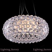 D35 / 50 / 65cm Moderna Suspension Foscarini Caboche acrilico luce della lampada a sospensione Sweat Ion acrilico palla pendente luce moderne lampade rustiche