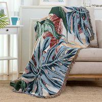 담요 사무실 니트 침대 담요 술 사무실 사무실 Divan 수건 격자 무늬 라운지 의자 커버 벽 태피스트리