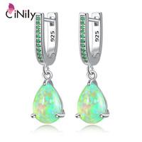CiNily Water Drop Opal мотаться серьги Посеребренной Mystery камня ювелирных изделия серьга для женщин ювелирных изделий Богемии мода серьги 200922