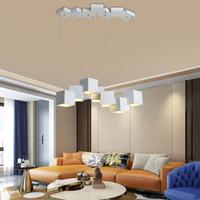 بقيادة أضواء الثريا 49W 56W الفن سحر مكعب غرفة الطعام المعيشة ضوء قلادة بار الإبداعية تعليق ومينير مصباح قلادة