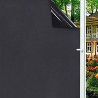 Extraíble 100% de bloqueo de luz estática total del apagón lámina para ventanas de privacidad de habitaciones para obscurecer Ventana Tinte Negro Etiqueta de la ventana