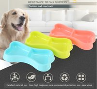 Dog Bowls Candy Colored Food Bowl Pet Feeding Supplies Durable Plastic Environmentally Creative Pets Feeders Friendly And Easy To Wash DHL Free Freight