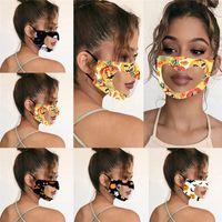 Halloween a forma di cuore della copertura della mascherina volto visibile sordomuto maschere antipolvere Halloween face traspirante per adulti della mascherina protettiva 300pcs T1I2248