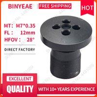 Lente Binyeae M7 Botão FL 12mm PIN Buraco para 1/3 CCD com F2.0 Mini CCTV HD 1Megapixel Security Câmeras