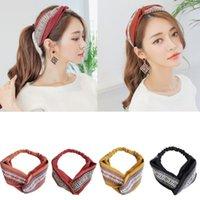 Haarschmuck Stickerei Knoten Haarbänder für Frauen Korea Nationalstil Band Krone Blume Stirnbänder Kopf Wrap Ms