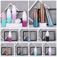 8 ألوان 17oz كولا على شكل زجاجة المياه مع زجاجات متدرجة اللون 500ML الفولاذ المقاوم للصدأ كولا ملون مزدوجة الجدران المعزولة الترمس R3399