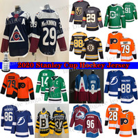 Vegas Golden Knights Jersey 29 Marc-Andre Fleury Colorado Avalanche 29 Nathan Mackinnon Philadelphia Flyers 79 Carter Hart Hockey Jerseys