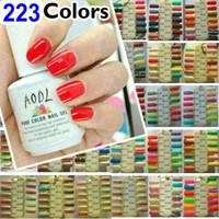 ~ Распродаже ~ 223 цветов ногтей искусство UV Color Gel польский Выдержать- замочить от УФ для Светодиодные лампы ONE STEP GEL 15ml 5oz Professional
