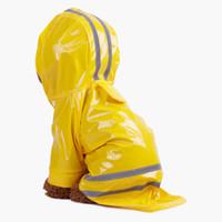 Vêtements de chien Vêtements pour animaux de compagnie Vêtements de chien d'extérieur Chiot d'extérieur Pet de pluie Manteau S-XL Veste imperméable à capuche imperméable imperméable PU réfléchissant pour chiens vêtements de chat vêtements