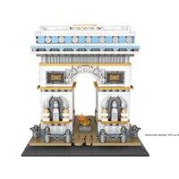 LOZ Der Arc de Triomphe in Paris Building Blocks Modell, Mini DIY Montage pädagogisches Spielzeug, Ornament für Weihnachten-Kind-Geschenk, Collect 1028, 2-1