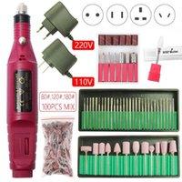 Nail Drill 20000rpm macchina elettrica di manicure del trivello del chiodo del gel di rimozione di file rattificare Strong Kit Attrezzatura