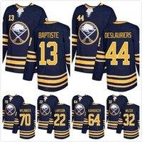 MENS 2018 Buffalo SABRES Navy Deslauriers 13 Baptiste 22 Johan Larsson Alexander Nylander 64 Vaclav Karabacek 32 Adam Wilcox Hockey Jerseys