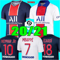 Futebol 20 21 Mbappé Maillots de camisas de futebol 2020 2021 NEYMAR JR ICARDI homens + crianças kit conjuntos enfants maillot de pé 4ª quarta