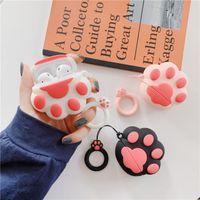 New Cat Paw Lucky Cat Мягкий силиконовый чехол для Apple Airpods противоударный чехол Обложка для AirPods Наушники Чехлы Наушники Protector