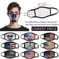 В наличии Мода США Америка Флаг Орел Принт Маски Моющиеся хлопчатобумажные Маски для лица Дышащие сбалансированные Женщины Человек Мода Маска FY9120