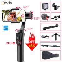 Orsda 3 المحور محمول مثبت انحراف الهاتف الذكي الهاتف اليدوي التكبير تتبع الوجه لمدة 11 برو بلس S9 S8