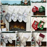 2020 Christmas Stocking Christmas Hanging party Decoration Xmas candy bags Cute cartoon cat and Dog Xmas socks kids party favor gift FF91