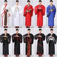 10Color 남성 중국어 의류 중국어 번체 의류 고대 의상 축제 의상 무대 성능 의류 민속 무용 의상 CX200818