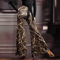 Palcoscenico Pantaloni da ballo latino Donne Leopard Leopardo Allentato Moderno Esercizio professionale Professionale ComfortBale