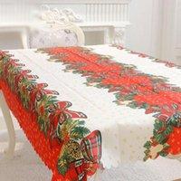 Tischdecke Weihnachtsdekor Tischdecke Holly rote Bänder Runner 150 * 180 cm Hohe Qualität