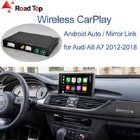 لاسلكية أبل CarPlay الروبوت واجهة السيارات لأودي A6 A7 2012-2018، مع مرآة لينك لعب وظائف البث السيارات