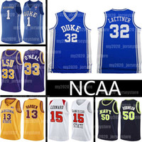 NCAA 32 Christian Laettner Trikots Zion 1 Williamson LeBron James 23 13 Harden Shaquille O'Neal David 50 Robinson Duke Blue Devils Hochschule